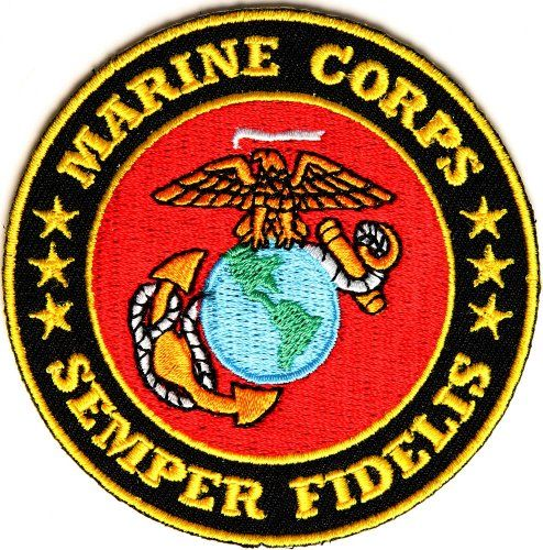 Sew On Patch SEMPER FI PATCH Saying Embroidered Iron On