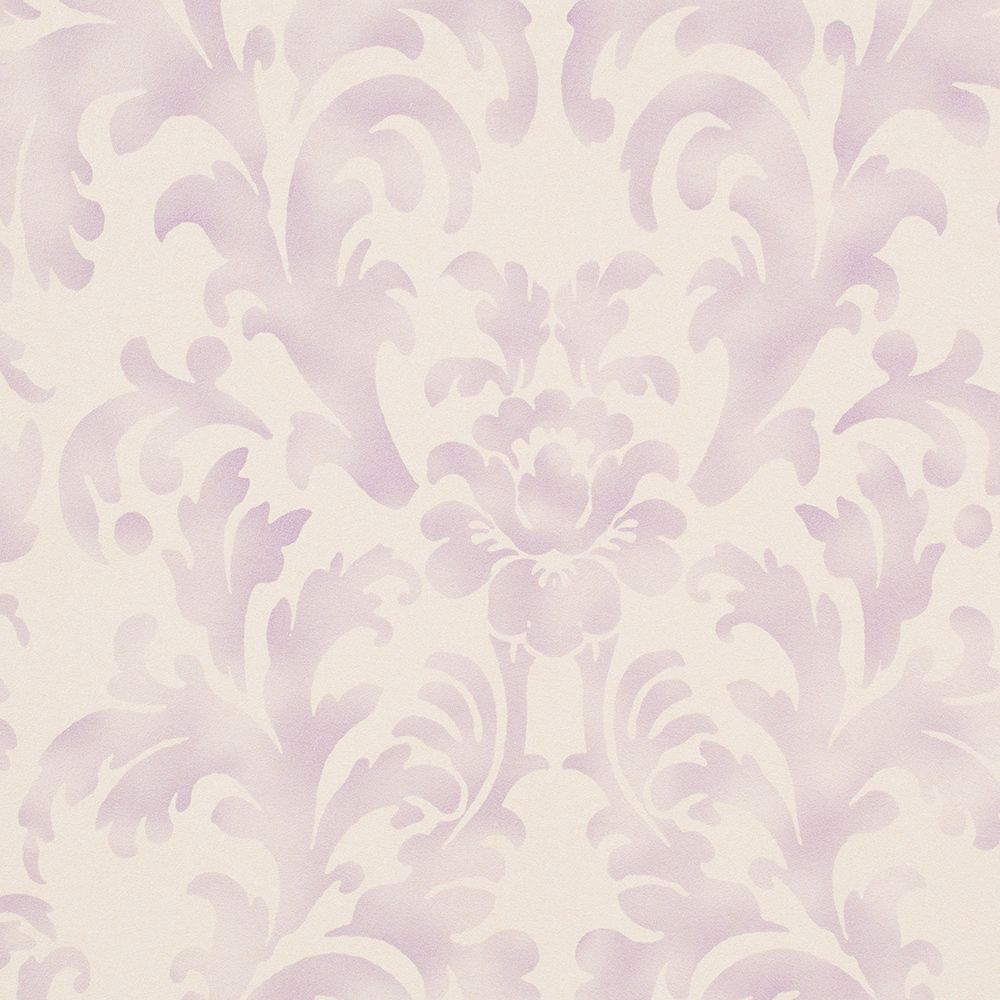 Color: Ivory / Violet PurpleDamask design pattern with faux worn effect; great for shabby chicWashable. Strippable. Paste required; apply to wallpaperStraight Design Match; Pattern Repeat every 20.8 I