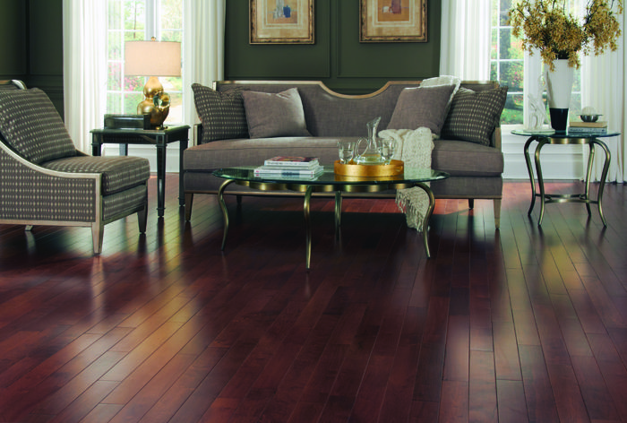 Copper Hevea Stained Solid Hardwood