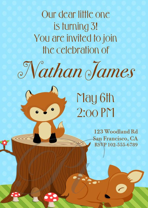 Woodland Birthday Party or Baby Shower  Printable by PinkThoughts, $8.00