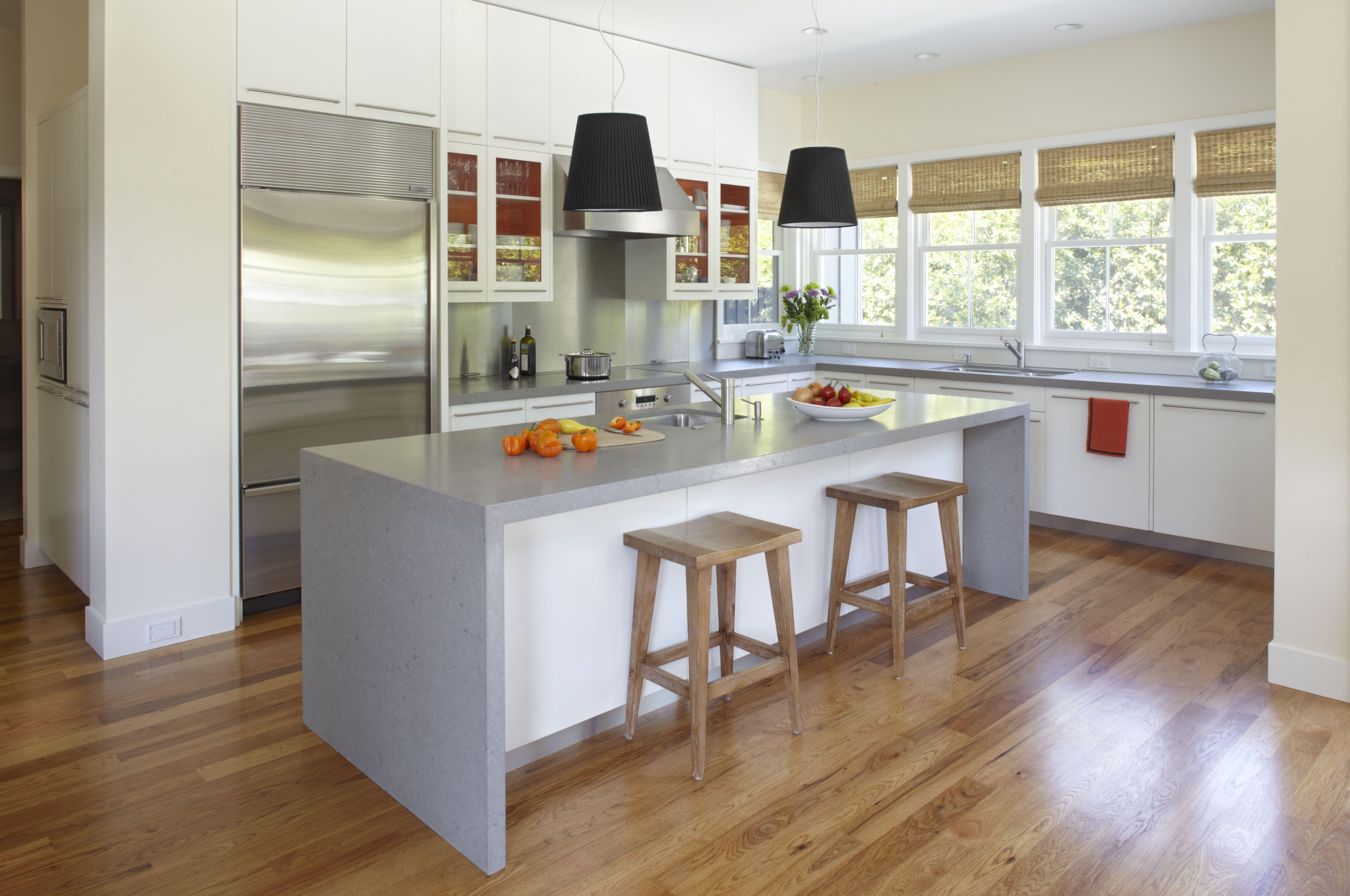 Modern Gray Farmhouse ConcreteCounterTopsFaucets (With