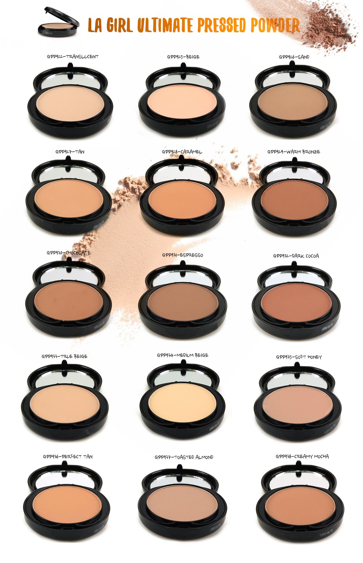 Get a natural matte finish with LA Girl Ultimate Pressed