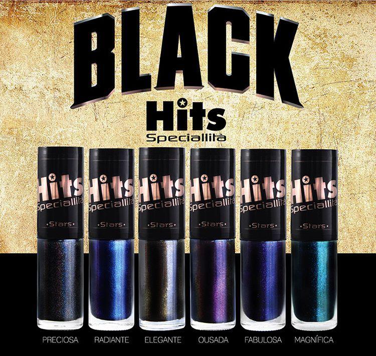 BLACK HITS STARS - Lançamento de 6 esmaltes sofisticados e luxuosos, onde o…