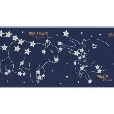 York Wallcoverings Night Sky with Marked Constellations