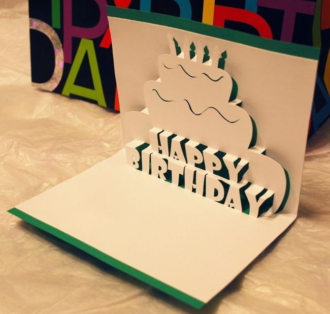 36 Awesome happy birthday pop up card template images   b ...