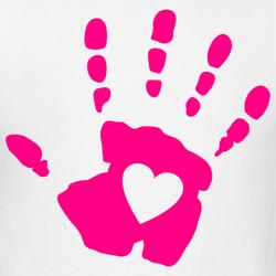 Red Hand Print Clip Art Clipart Panda Free Images Rh Com Au Black And White Prints Child