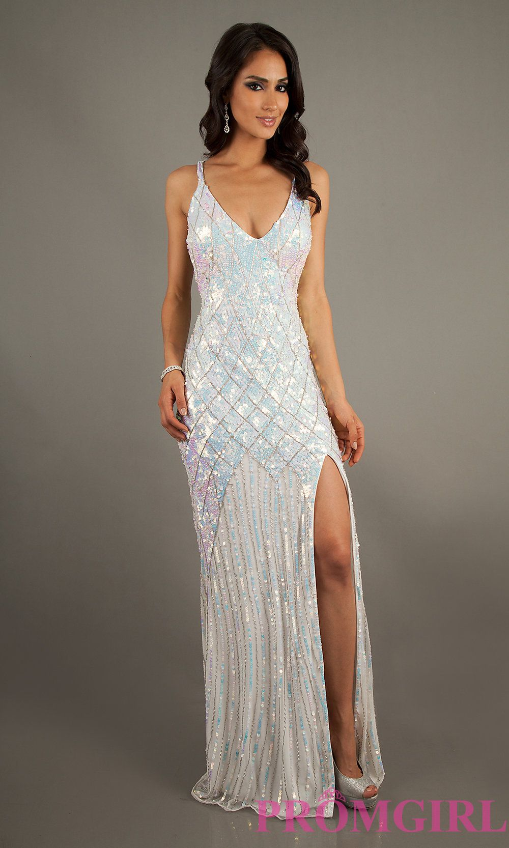 Long sequin prom dresses primavera sequin formal gowns promgirl