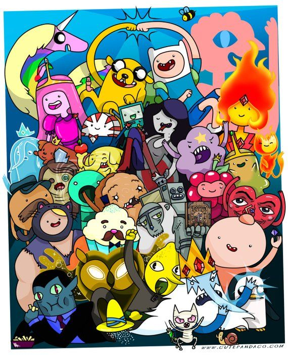 Adventure Time Group Poster