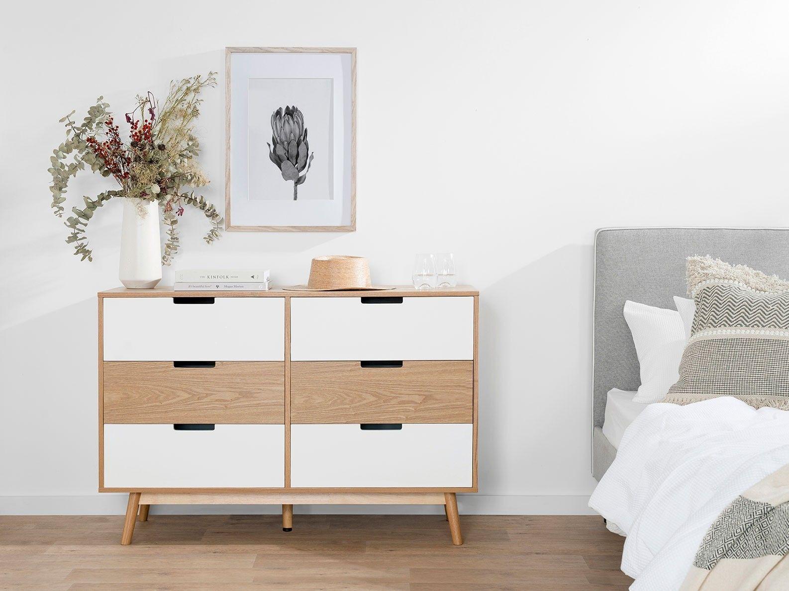 Marlow Six Drawer Wide Bedroom Furniture Mocka Au In 2020 Furniture Selling Furniture Furniture Packages