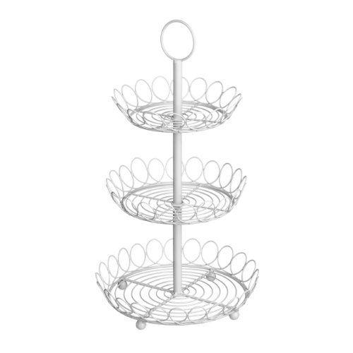 Cream Baskets 3 Tier Fruit Vegetable Basket Bowl Rack Stand Storage Holder  PRIME FURNISHING Http: