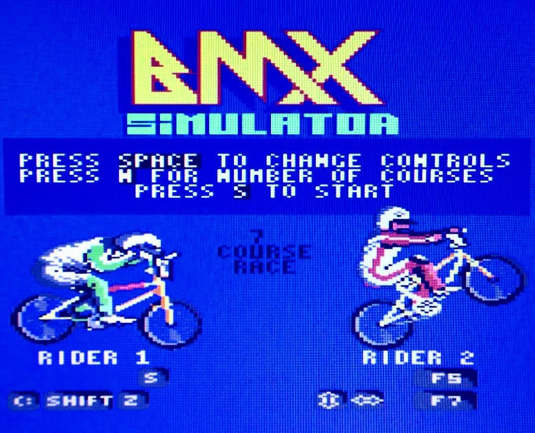 On instagram by the_art_of_c64_games #c64 #microhobbit (o) http://ift.tt/1RlXVuZ #codemasterssoftware #1986  games #commodore64 #bmx #bmxracing