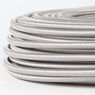 Textilkabel silber 5adrig 5x0,75 mm² mit Stahlseil als