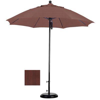 California Umbrella 9' Market Umbrella Fabric: Olefin-Terrace Adobe, Frame Finish: Matted Black