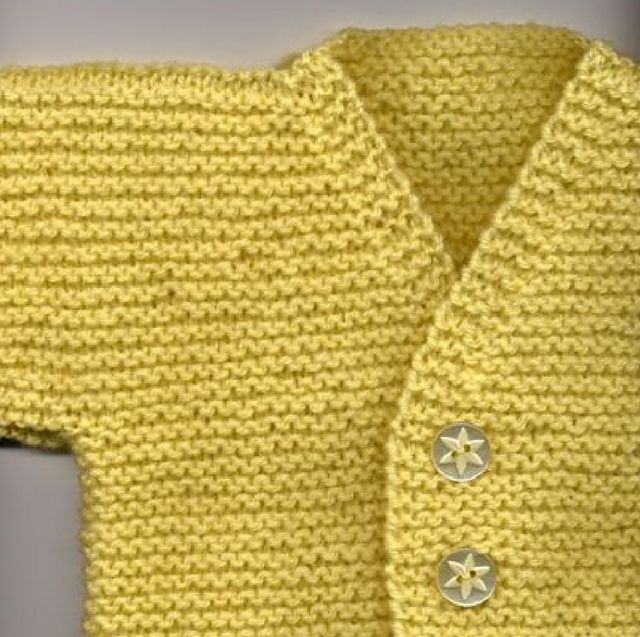 fe313061f37a9 Ravelry  Garter Cardigan for Baby pattern by Esther Kate