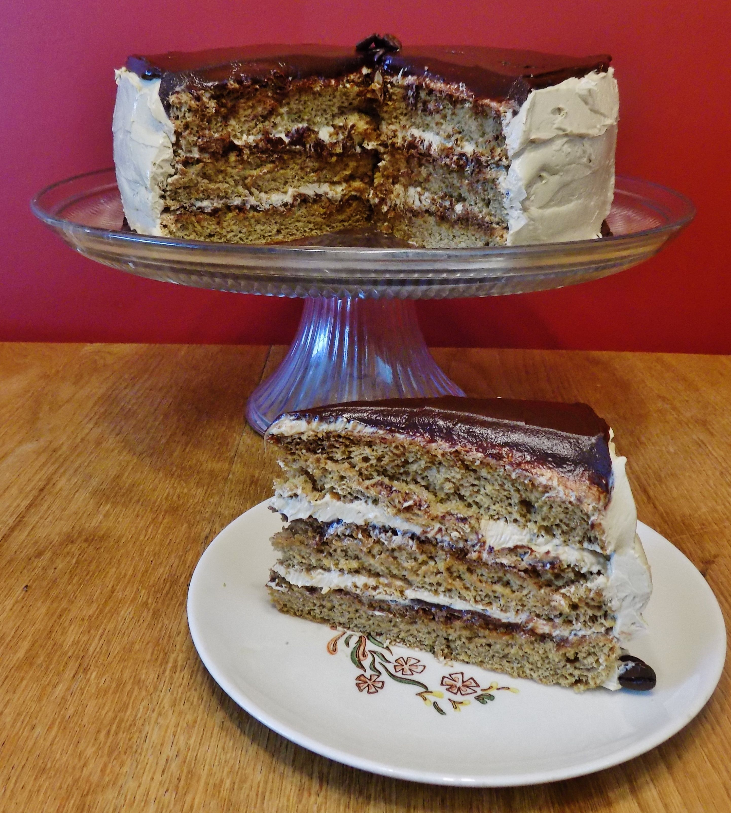 Kahlua Coffee Opera Cake FatFridaysForever (With images