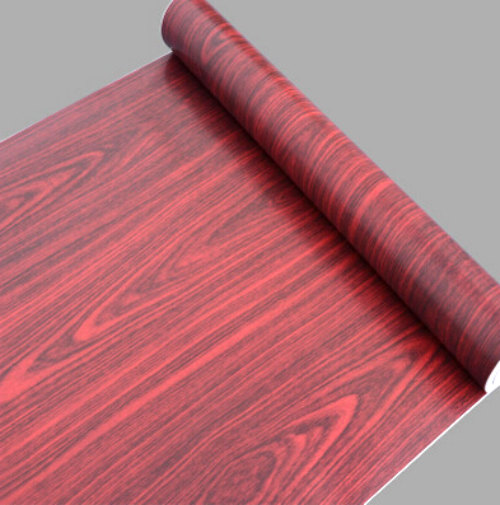 Red Wood Grain Contact Paper Shelf Liner Self Adhesive Size 17 7 Inches By 33 Feet