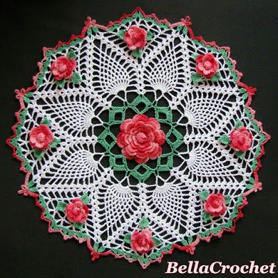 Rose Doilies to Crochet – 24 free patterns – Grandmother\'s Pattern ...