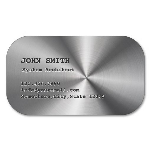 Cool Faux Steel System Architect Business Card Business cards - system architect resume