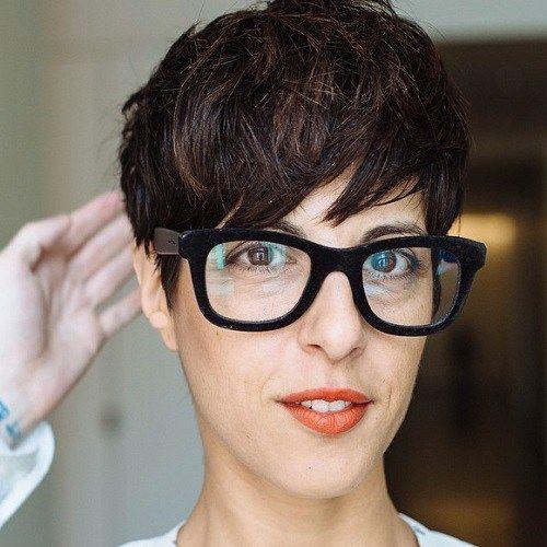 Kurzhaarfrisuren fur damen mit brille