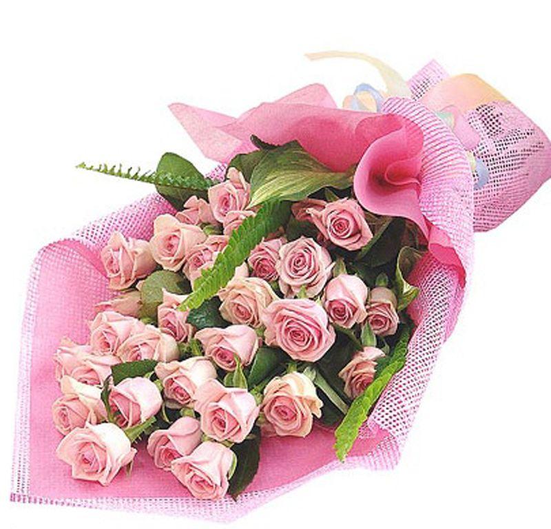 25 Pink Roses Bouquet Indoor Plants In Uae Order Flower Online Anniversary Wedding Flowers