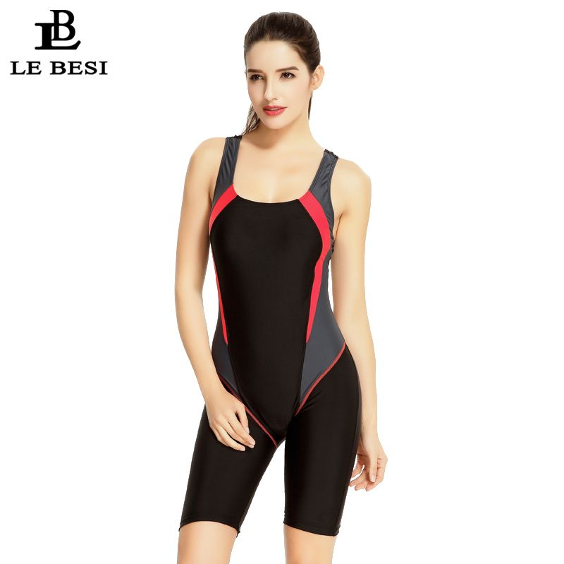 LE BESI 2017 Women's Professional Swimsuit Triathlon Suit Slimming Sports Fifth Pants Knee Length Swimwear Racing Bathing Suit