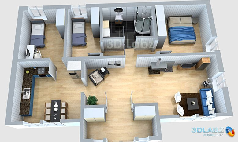 3d floor plan designerLuxury house plans3D floor plan
