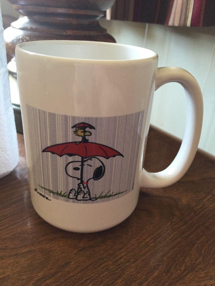 Snoopy Woodstock Peanuts Coffee Mug In The Rain Orca Coatings New Mugs Woodstock Peanuts Snoopy And Woodstock