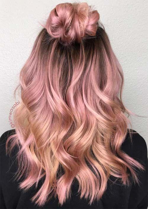 Photo of 52 Charming Rose Gold Haarfarben: So erhalten Sie Rose Gold Hair – Neueste frisuren | bob frisuren | frisuren 2018 – neueste frisuren 2018 – haar modelle 2018