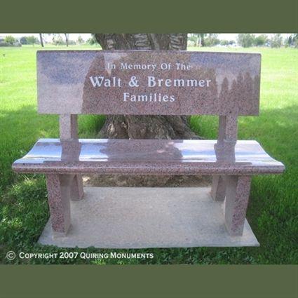 Classic Granite Bench Headstone Headstones Memorial Benches Mom Pinterest