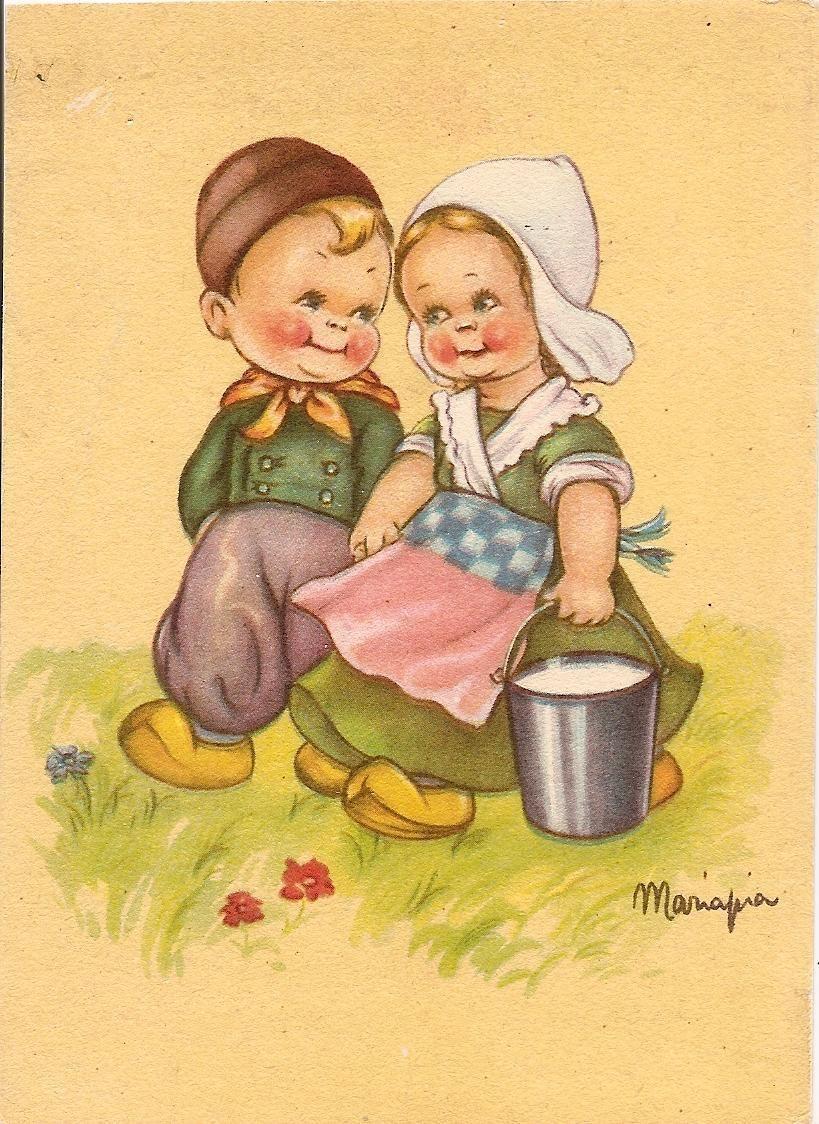 Coppia di bambini / Olanda ( 9 ).................illustratore MARIAPIA. | eBay