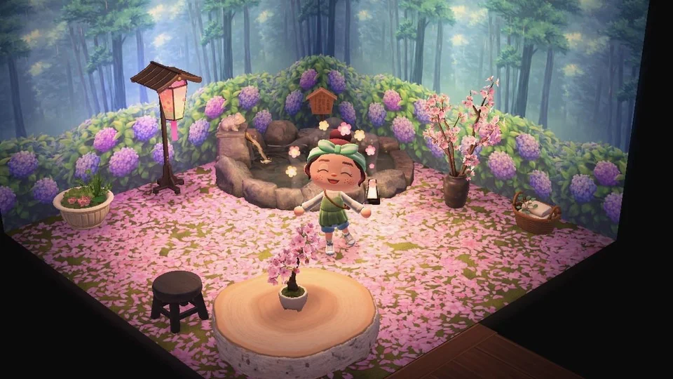 Haven T Been Able To Find The Cherry Blossom Wallpaper But Saharah Really Delivered With Her Mysterious Cherry Blossom Wallpaper Animal Crossing Cherry Blossom