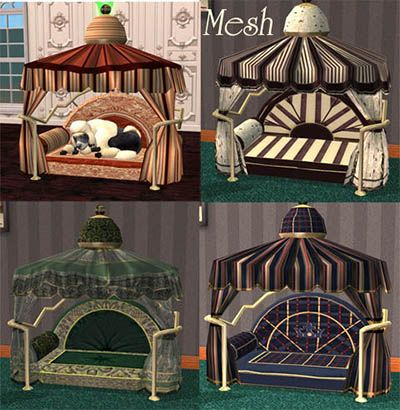 Mod The Sims - Pet Furniture: 3 New Beds | Victorian Sims 2