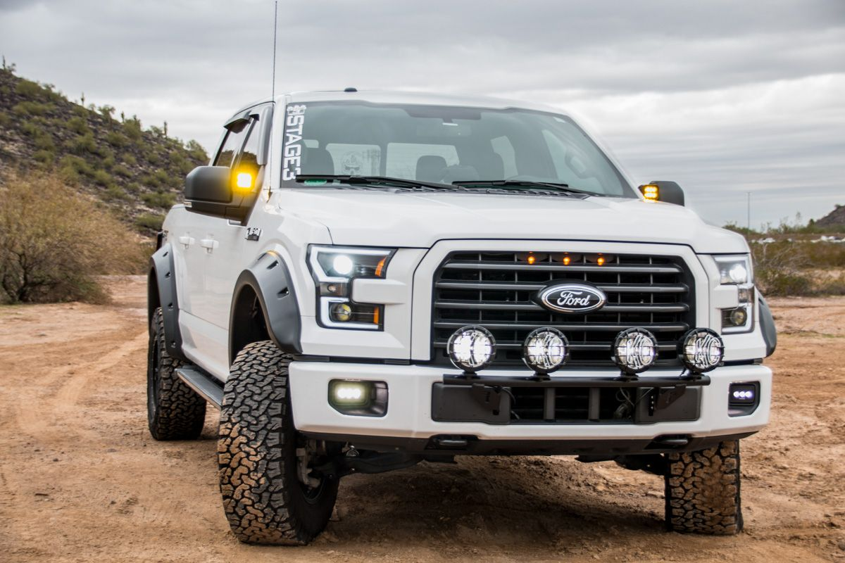 2015 2017 F150 With Xlt Grille Custom Auto Works Raptor Style Led
