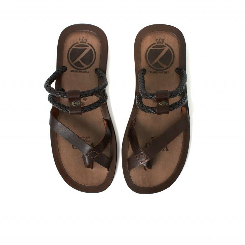 ef064e6f6 Zaffaella Shoes - Fabiani Brown Italian Mens Casual Leather Sandal ...