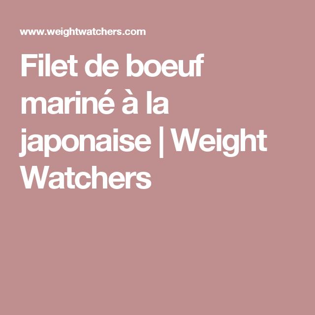 Filet de boeuf mariné à la japonaise | Weight Watchers