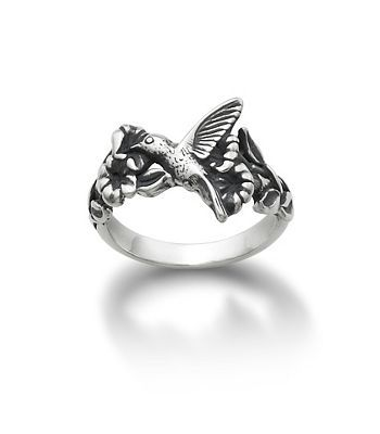name hummingbird and flower ring from james avery - James Avery Wedding Rings