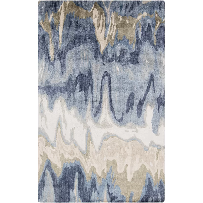 Gemini Abstract Hand Tufted Blue Beige Area Rug Area Rugs Beige Area Rugs Area Rug Design