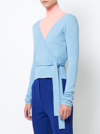 Dvf Diane Von Furstenberg knit wrap top Stockist Online pozTbF