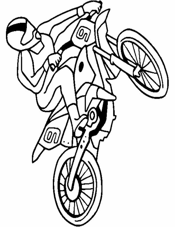 Free Printable Dirt Bike Coloring Sheets Bike Rider Dirt Bike
