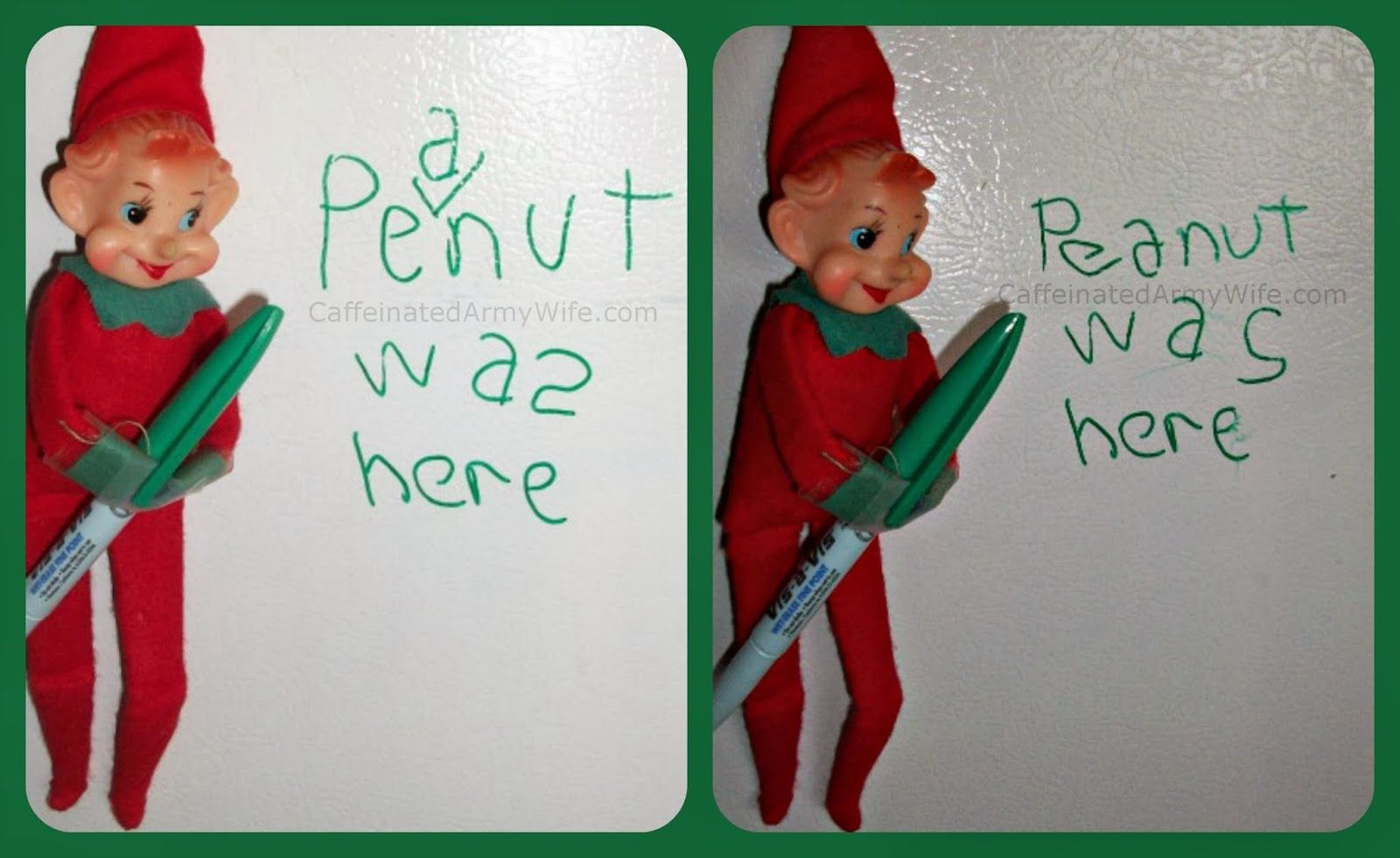 Today we learned that our elf had a name