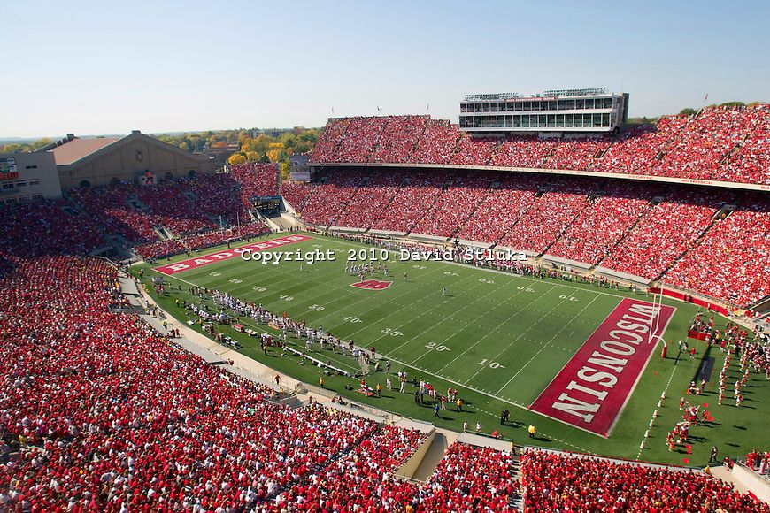 buy online aa2b9 64739 picture of wisconsin badge stadium   general view of Camp Randall Stadium  during the Wisconsin Badgers .