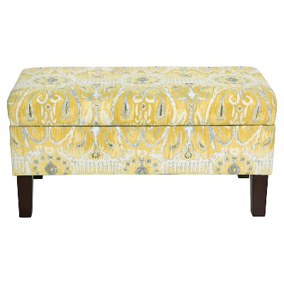 Skyline Bedroom Patterned Storage Bench   Skyline Furniture, Alessandra  Lemon