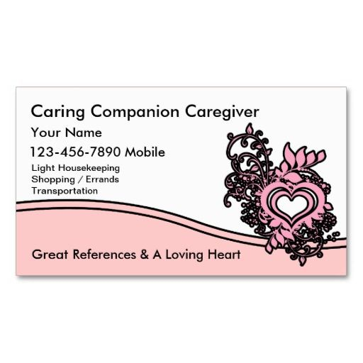 Caregiver Business Cards Zazzle Com Customizable Business Cards Buissness Cards Business Card Design