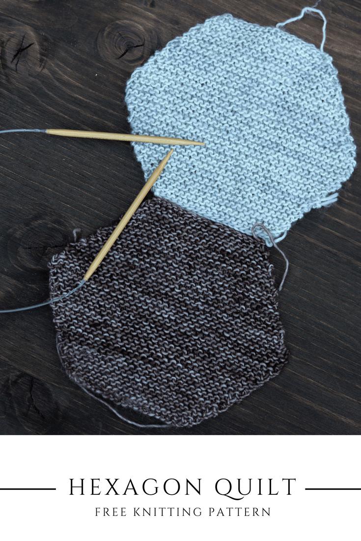 Free Hexagon Knitting Pattern   Yarn shop, Knitting patterns and Yarns