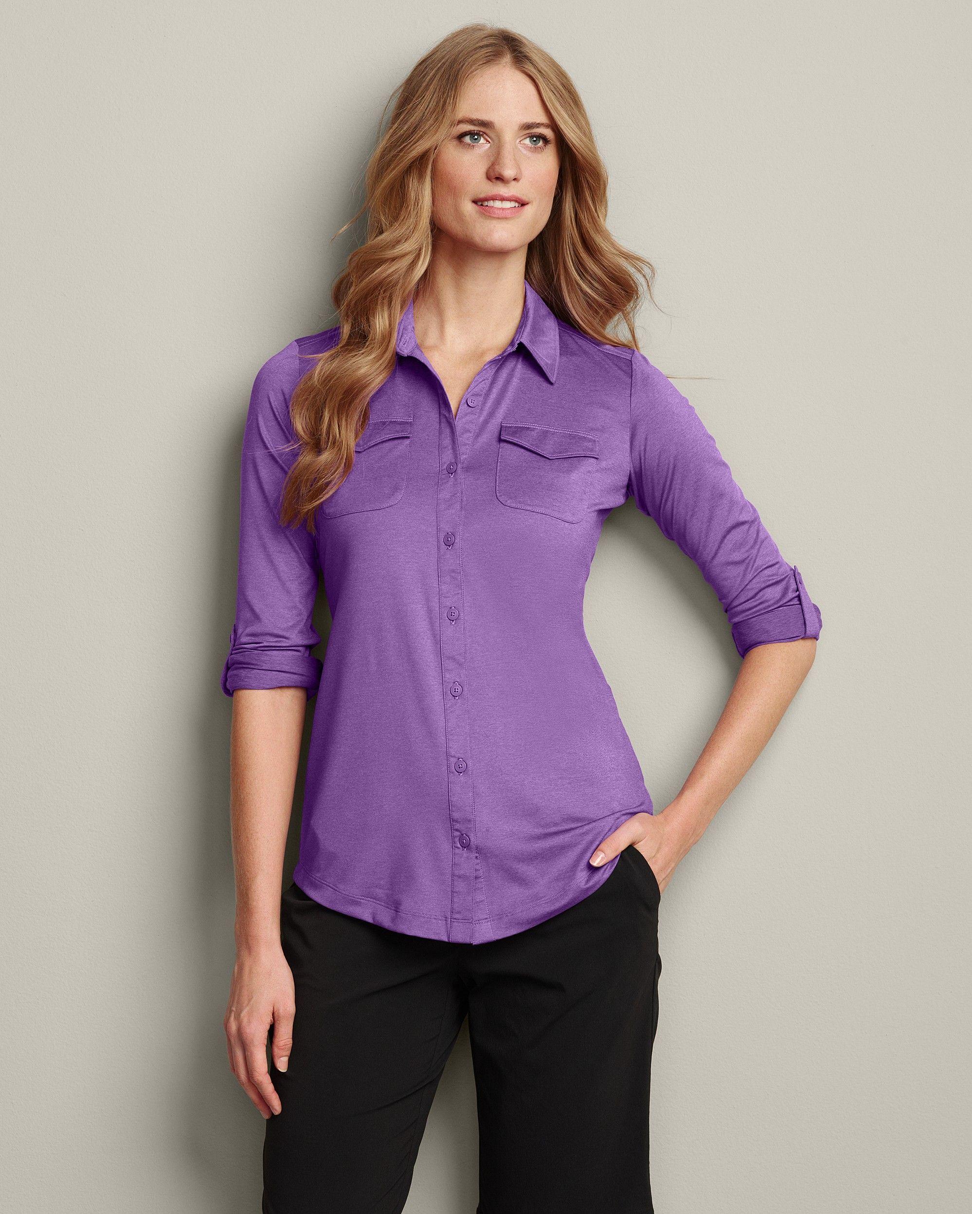 Travex® Infinity ButtonDown Shirt Eddie Bauer Women