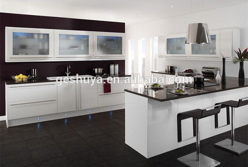 LB-DD1002 estilo moderno blanco pvc cocina armarios de cocina-imagen ...