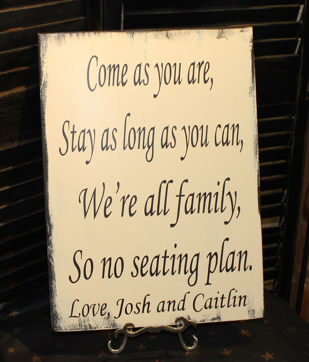"""Wedding Signs/ Reception Tables/Seating Plan/ """"Come As You"""