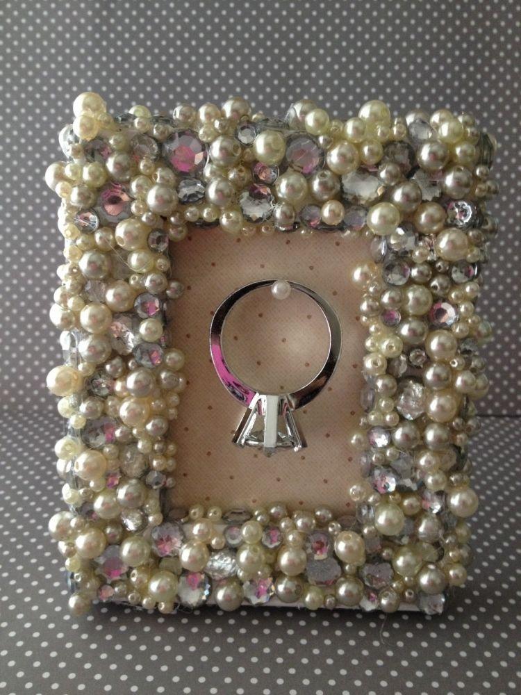 Bilderrahmen Selber Machen Perlen Glitzer Kleben Verzieren