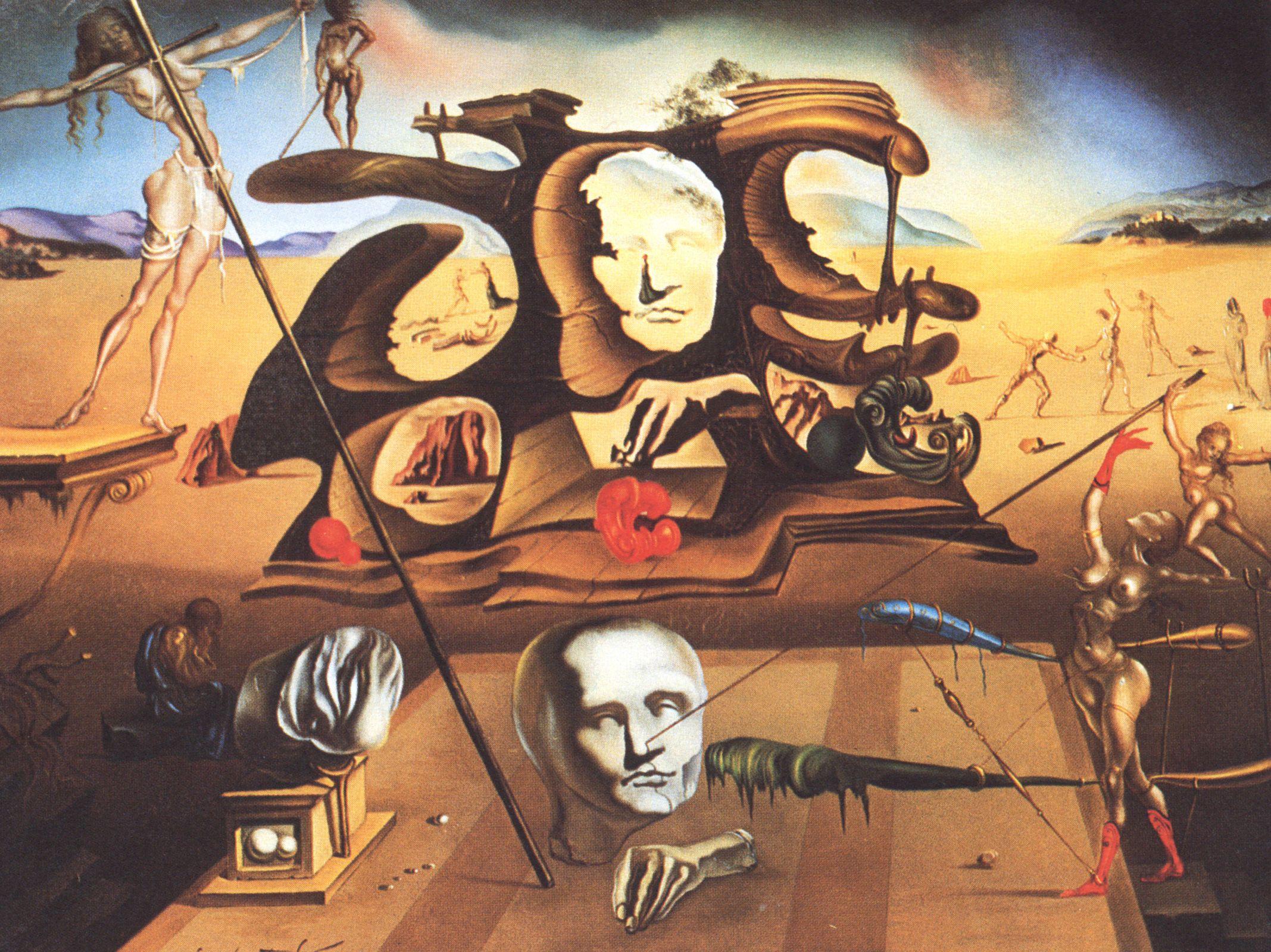 Salvador Dali, art, painting, surrealism, 1940s, 1945 ...