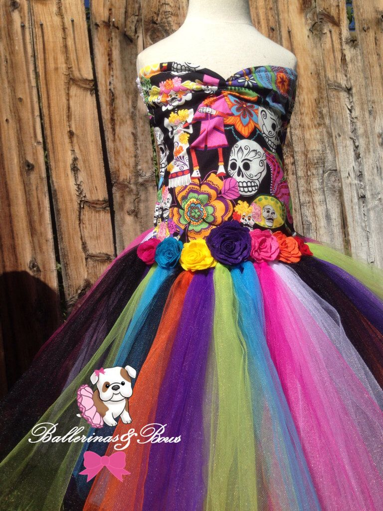 Girls day of the dead tutu dress-Dia De Los Muertos dress ...